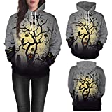 Fiaya Women's Halloween Hoodie Pumpkin Long