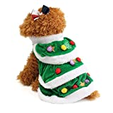 WORDERFUL Dog Winter Clothes Christmas Tree Dog Pet Coat Cute and Warm Dog Costumes (XL)