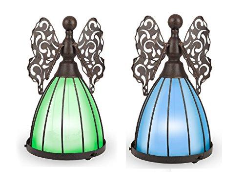 Gerson Company Solar Rustic Angels - Set of 2
