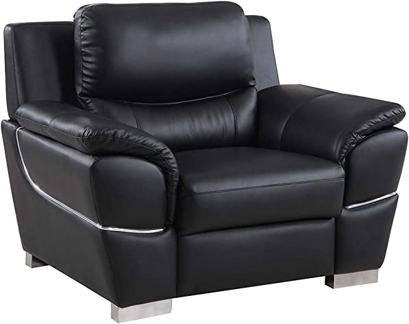 Blackjack Furniture 4572 Binion Collection Faux Leather Match Upholstered Modern Living Room Review