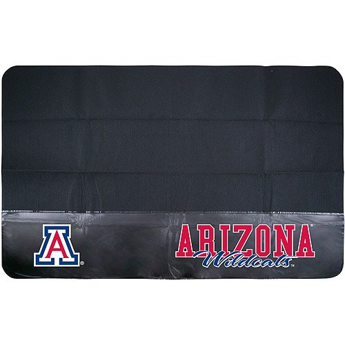 N&T 1 Piece Wildcats Grill Mat 48 Inch, Football Themed Grill Pad Large Durable Patio Deck Floor Protection Team Logo Fan Merchandise Athletic Team Spirit Fan Black, Padded Vinyl