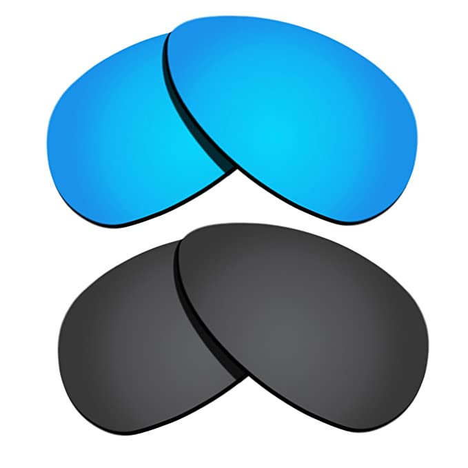19c0bc62dcd Polarized Replacement Lenses for Oakley Crosshair S - Black   Ice Blue  Mirrored  Amazon.ca  Clothing   Accessories