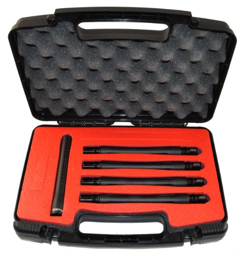 Lapco 14'' Desert Edge FUSE 5 Piece Paintball Barrel Kit - Autococker Dust Black by LAPCO