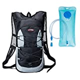 Best Fit For U Hydration Pack Water Backpack with 2L Hydration Bladder for Running Hiking Biking Women Men Kids