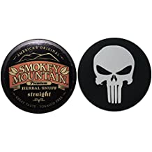 Smokey Mountain Herbal Chew or Snuff - 1 Can - Includes DC Skin Can Cover (Straight) (Punisher Skin)