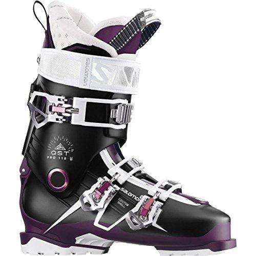 Salomon QST Pro 110 Ski Boot - Women's Black/Burgandy/Pink, 25.5 ()