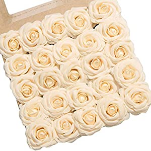Ling's moment Artificial Gardenia Flowers w/Stem for DIY Wedding Bouquets Centerpieces Arrangements Party Baby Shower Home Decorations 4