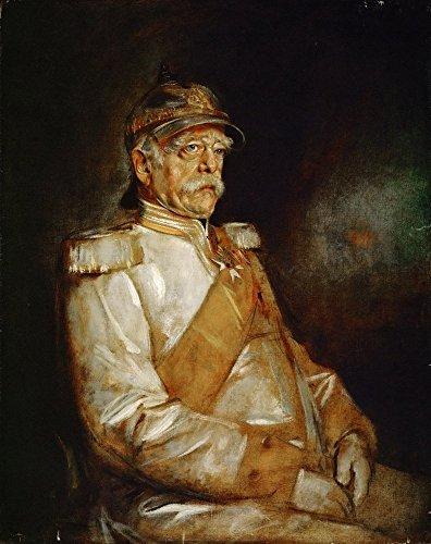 Prince Otto von Bismarck in Uniform with Prussian Helmet By Franz Seraph von Lenbach