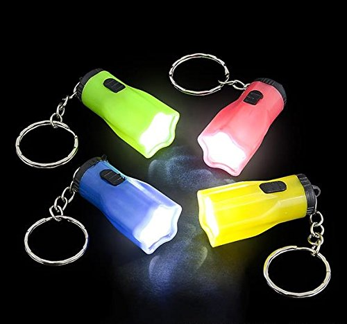 Star Shaped Mini Flashlight Key Chain 1.5