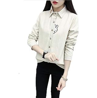 3aa2c774e1e1f1 [ダーセン]刺繍 トップス 暖かい チェックシャツ 長袖シャツ あったか レディース 裏ボア シャツ 裏