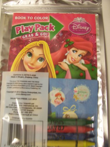 Disney Princess Holiday Grab & Go Play Pack (Ariel and Rapunzel with Holly)