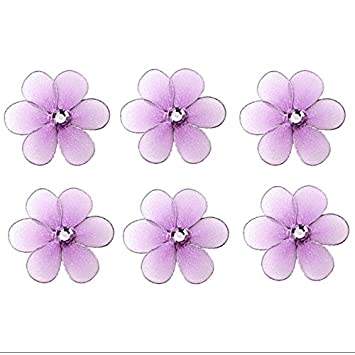 Flower Decor 2u0026quot; Purple Lavender Mini X Small Nylon Mesh Flowers Daisy  Daisies 6