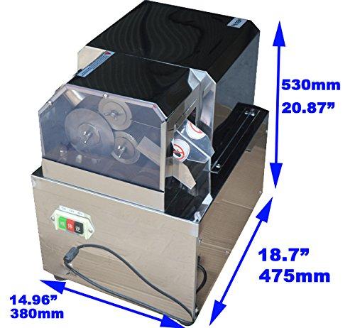 Techtongda 110v Desktop Electric Sugar Cane Ginger Sweet Sorghum Stalk Press Juicer