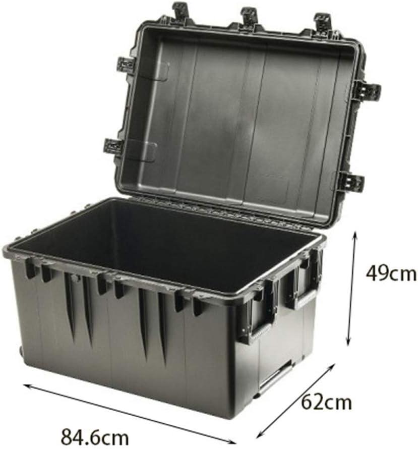 PIJN Casos Pelican De Gran Capacidad de la tormenta Caja sin el Equipo Esponja Caja de protección de Transporte Agua y al Polvo Caso tormenta con Espuma (Color : Black, Size :