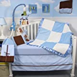 13 Piece Minky Dot Chenille Baby Crib Nursery Bedding Set