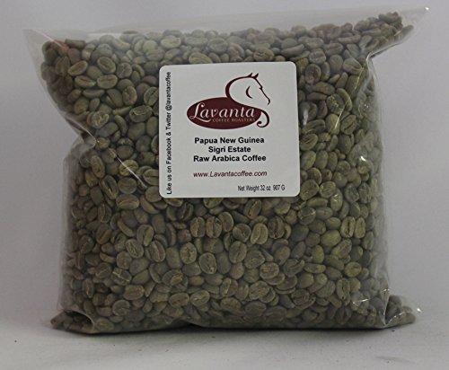 Lavanta Coffee Roasters Papua New Guinea Sigri Estate Green Direct Trade Coffee, 2lb