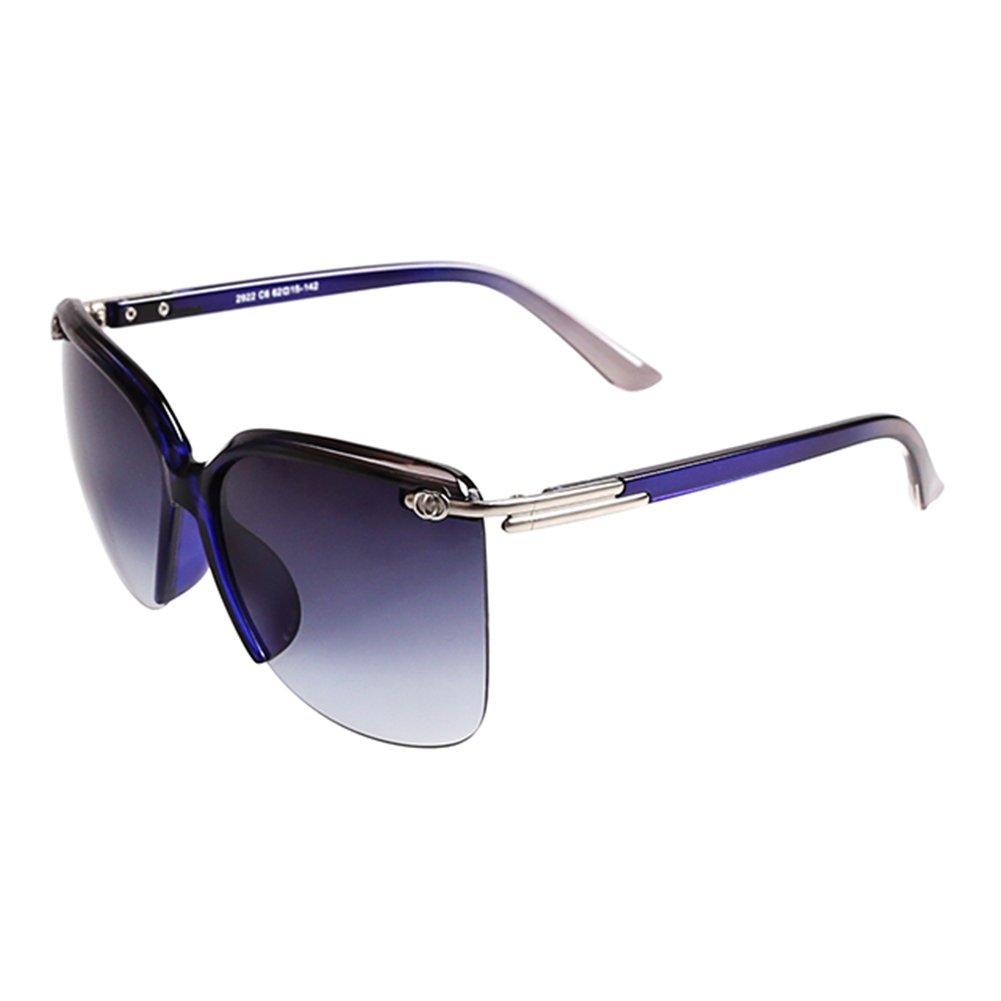 WYYY lunettes de soleil Goggle Lunettes De Conduite Mlle Demi-trame Gradient Classique Rétro Lumière Polarisée Protection Contre Le Soleil Anti-UVA Protection UV 100% (Couleur : Beige) tpJFLoK