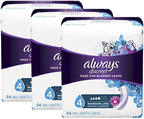 Always Discreet Incontinence Moderate Absorbency product image