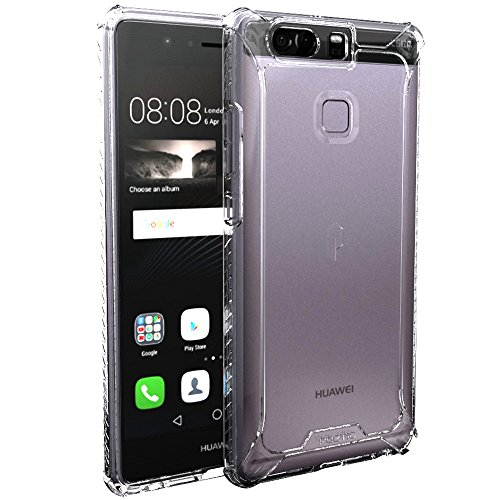 Huawei P9 Case, POETIC Affinity Series Premium Thin/No Bulk/Slim fit/Clear/Dual Material Protective Bumper Case for Huawei P9 (2016) Clear/Clear