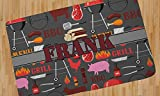 Barbeque Area Rug - 5'x8' (Personalized)