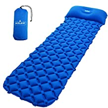 Acelane Inflatable Air Camp Pad Lightweight Sleeping Mat Mattress with Pillow Compact for Camping Backpacking and Hiking