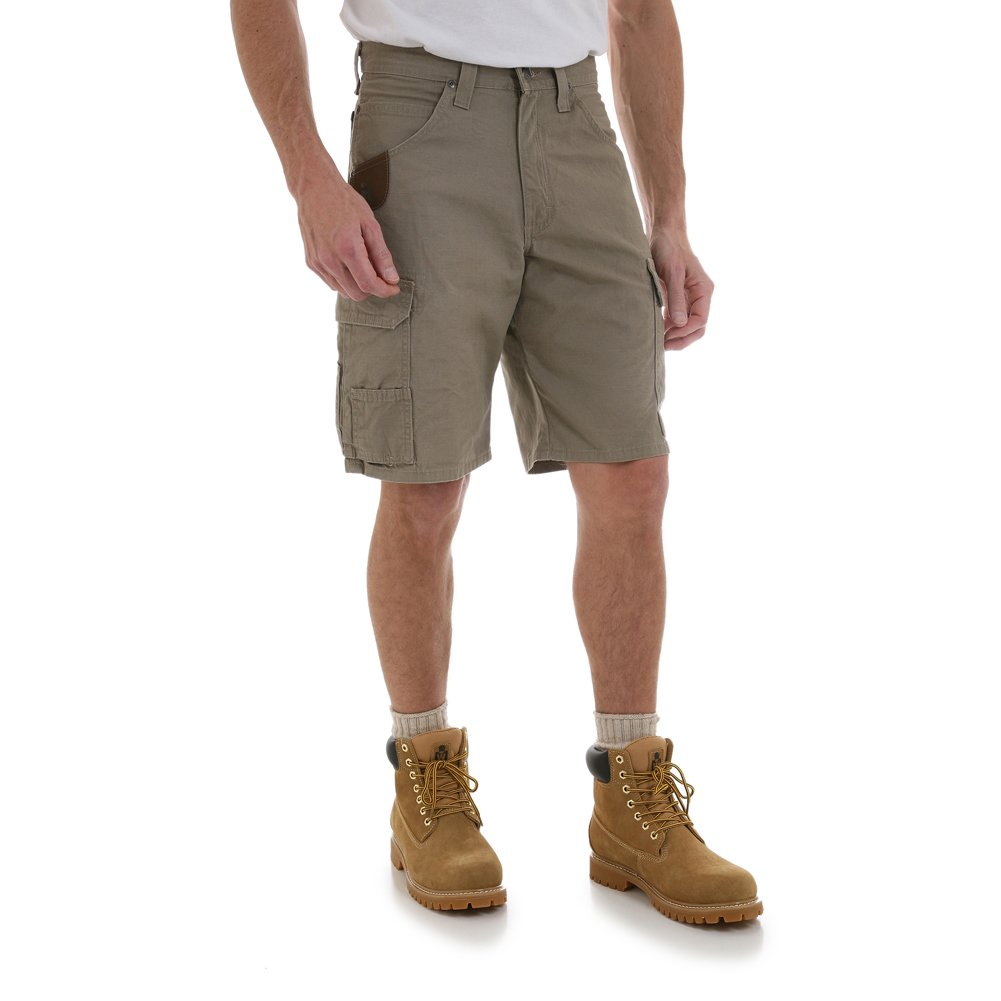 Wrangler Riggs by Big and Tall Ranger Cargo Short (Dark Brown 52)