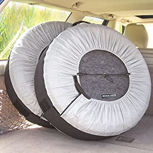 Kurgo Seasonal Tire Tote & Wheel Felts | Spare Tire Cover | Portable Wheel Bags | Winter Tire Cover | Eco-Friendly Tire Totes | Handle for Easy Transportation | Universal Fit