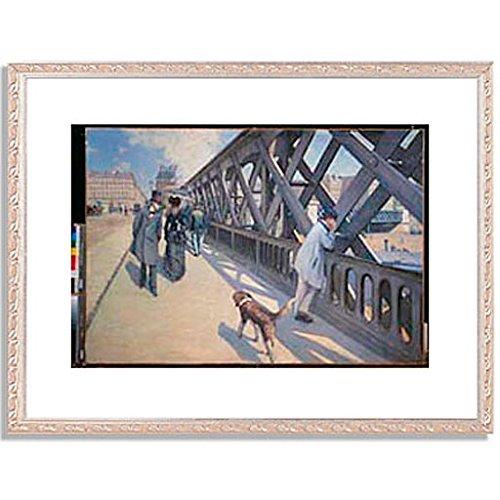 ギュスターヴカイユボット Gustave Caillebotte「ヨーロッパ橋 The Europe Bridge. 1876 」 インテリア アート 絵画 プリント 額装作品 フレーム:装飾(銀) サイズ:L (412mm X 527mm) B00NKTL2JQ 3.L (412mm X 527mm)|5.フレーム:装飾(銀) 5.フレーム:装飾(銀) 3.L (412mm X 527mm)