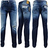 Replay Blue Anbass Slim Fit Jean With Ripped Leg Design - M914-661-116-007 'Anbass' 32/30