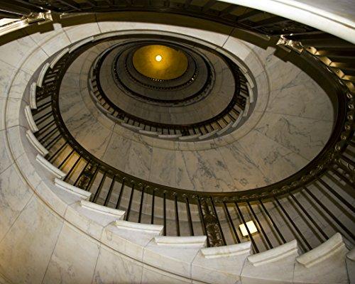 Supreme Spiral Staircase - United States Supreme Court Building, Washington Dc - Framed Photo Art Print, 11