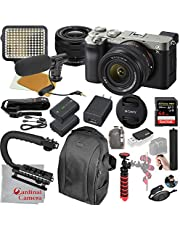 $2098 » Sony Alpha a7C Mirrorless Digital Camera with 28-60mm Lens (Silver) Video Bundle + LED Video Light + Microphone + Extreme Speed 64GB Memory(20pc Bundle)