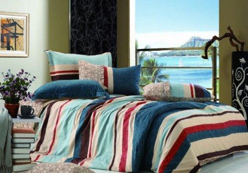 Cc&dd 100% Cotton Striped Duvet Cover 3p C Set Full-size