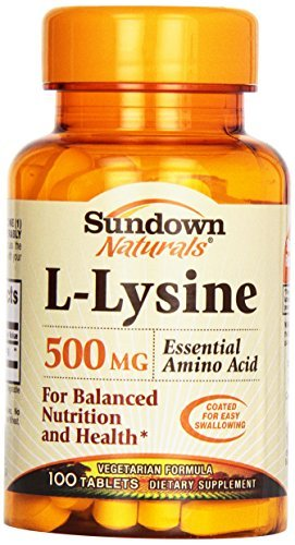 down Naturals L-Lysine, 100 tabs 500 mg by SUNDOWN VITAMINS. ()