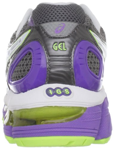 Vrouwen Asics Gel-kayano 18 Titaan / Wit / Neon Purple