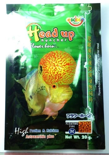 - HOT OKIKO HEADUP HUNCHER FlOWERHORN FISH FOOD, VERY HIGH PROTEIN & CALCIUM 3g by fish4you