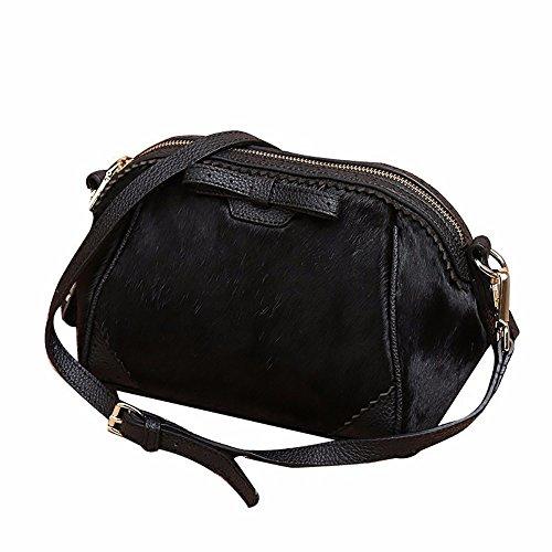 Shell Bag Leather Bag / Winter Single Shoulder Bag, Black Black