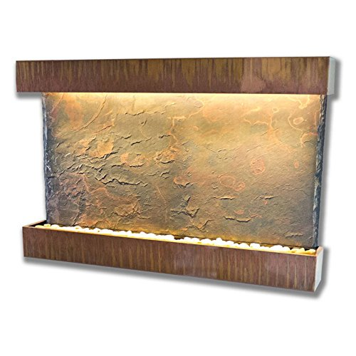 Horizon Copper Fountain (Water Wonders Slatetech Horizon Falls with Copper Patina Trim)