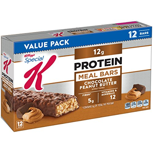 Special K Protein Chocolate Peanut Butter Meal Bar, 12 Count 1.59 ounce bars Crispy Rice Bar Peanut Butter