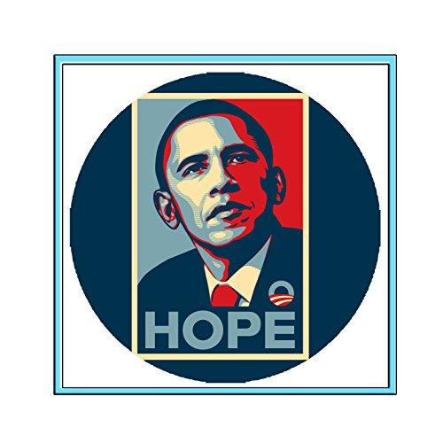 - campaign pin pinback Barack Obama High Contrast,