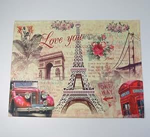 Amazon Com France French Paris Eiffel Tower Red Car