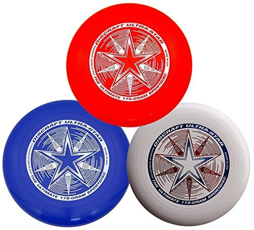 Discraft 175g Ultimate Disc Bundle (3 Discs) Red, White & Blue by Discraft (Image #1)