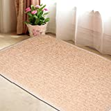 "Entry Doormat Anti-Slip Rug Carpet Heavy Traffic Floor Mat 31""x 19""- 9 colors (Light Tan)"