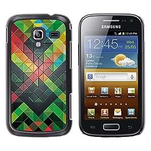 Stuss Case / Funda Carcasa protectora - Polygon Pattern Modern Abstract Green - Samsung Galaxy Ace 2 I8160 Ace II X S7560M
