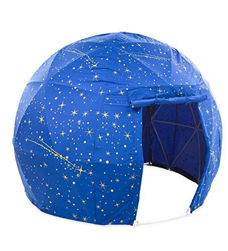 HearthSong® Glow-in-The-Dark Space Dome Play Tent for Kids - Frame Measures Approx. 73 Diam. x 55 H