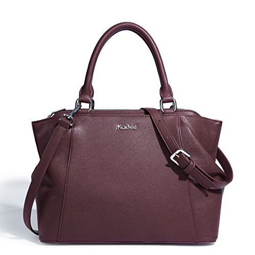 Body handle Dottore Beige pelle borsetta Vino di Purse Donne rosso Bag Tote Elegante Kadell Top di Croce 54nqz