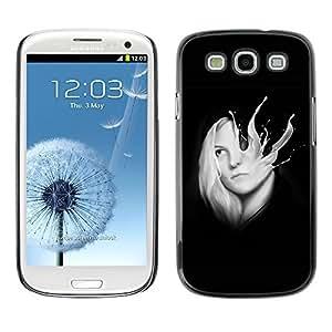 GagaDesign Phone Accessories: Hard Case Cover for Samsung Galaxy S4 - Abstract Milk Splash Girl Sci-Fi