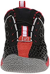 Sperry Women\'s SeaRacer + GripX3 Sneaker, Black/Red-9 M (B)