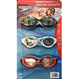 Speedo 3 Pack Adult Swimming Goggles