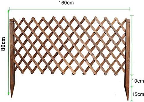 庭のフェンスの装飾屋外大 独立した庭のパーティションフェンスフェンス登山フレーム、接地型の庭のタイプリトラクタブル木製フェンス、多機能リトラクタブル木製フェンス 木製の折りたたみ式フェンス (Size : 80cm)