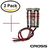 farhop 5mW 650nm Red ''Cross'' Laser Diode 3-5V Module with Clamshell Packaging